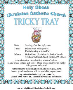 click on the picture of the tricky tray flyer below to download and view